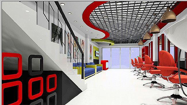 发廊室内装修设计效果图