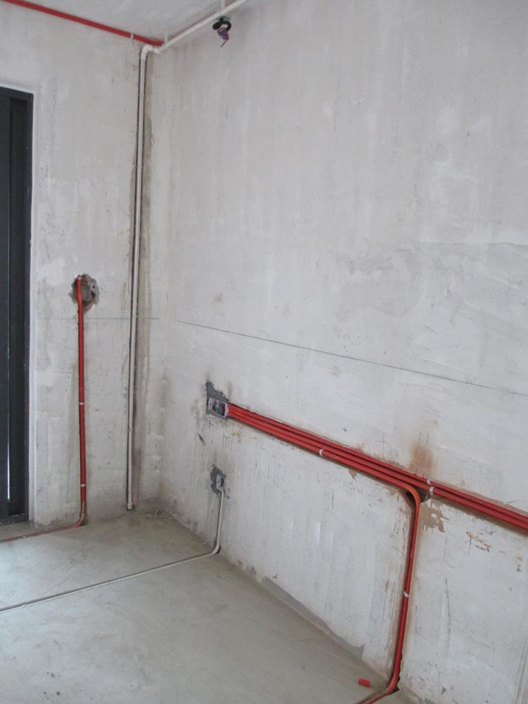 水电施工照 杭州家装公司 室内装饰设计 杭州家庭装修 高清图片