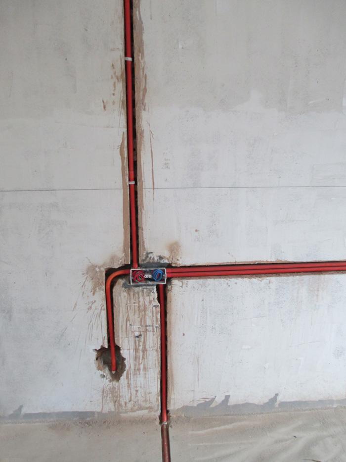 室内装修水电施工照 高清图片